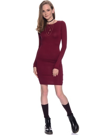 Missguided Elbise Bordo